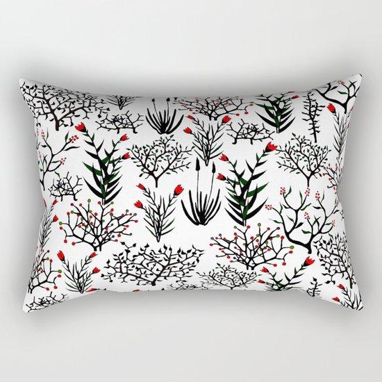 Black Nature Rectangular Pillow