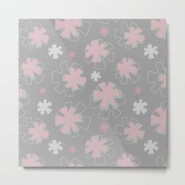 Asterisk Flowers Metal Print