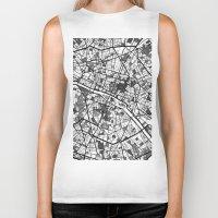 mondrian Biker Tanks featuring Paris Mondrian by Mondrian Maps