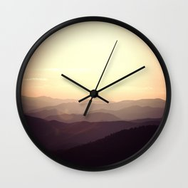 Smokier Mountain Wall Clock