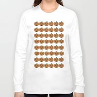 lanterns Long Sleeve T-shirts featuring Jack-O-Lanterns by Annie Lynch