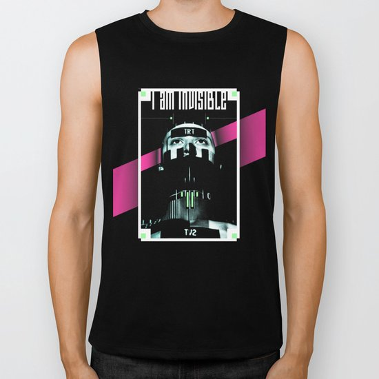 I AM INVISIBLE Biker Tank