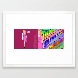 Let's Shop! Framed Art Print