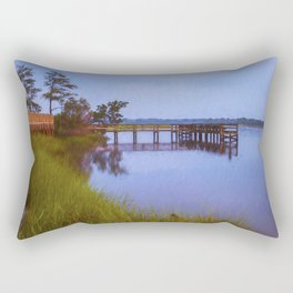 Fishing Pier at Sunset Rectangular Pillow