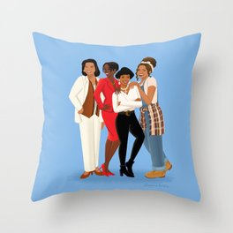 Living Single / Khadijah, Max, Regine & Synclaire Throw Pillow