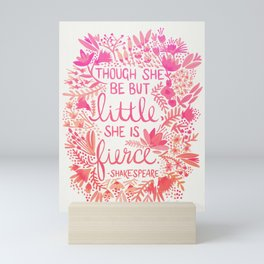 Little & Fierce – Pink Ombré Mini Art Print
