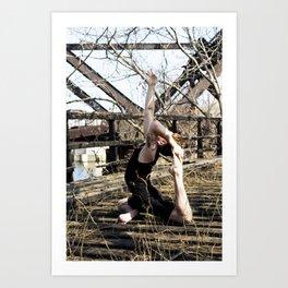 Urban Yoga Art Print