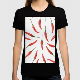 Red chili peppers. T-shirt