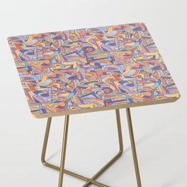Party in Orange and Blue Side Table
