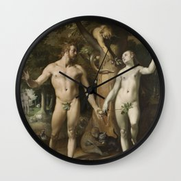 Cornelis Cornelisz. Van Haarlem - The Fall Of Man Wall Clock