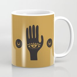 Golden Third Eye Palm Coffee Mug