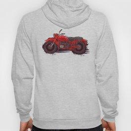 red vintage motorcycle Hoody