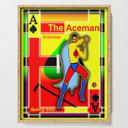 THE ACEMAN ... Logo Poster Serving Tray