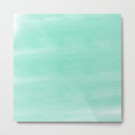 Chalky background - aqua Metal Print