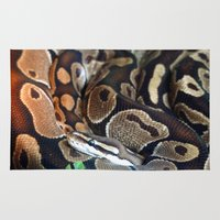 monty python Area & Throw Rugs featuring Python by GardenGnomePhotography