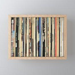 Classic Rock Vinyl Records Framed Mini Art Print