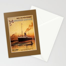 Vintage French Orient Shipping line Paris Mediterranean Stationery Cards