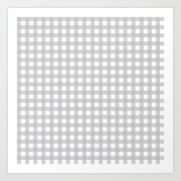 Buffalo Checks Plaid in Dove Gray and White Kunstdrucke