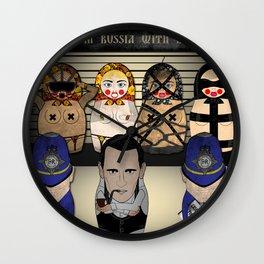 X Matryoshka Line Up Wall Clock