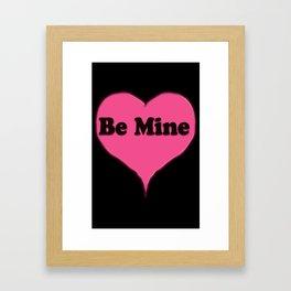 Be Mine Pink Candy Heart Framed Art Print