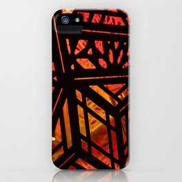 Abstract Red Light Exhibit iPhone Case