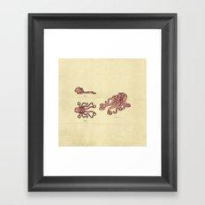 Lego Octopus Framed Art Print