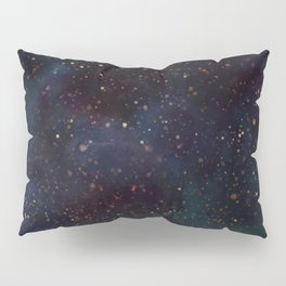 Space clouds - Turquoise Pillow Sham