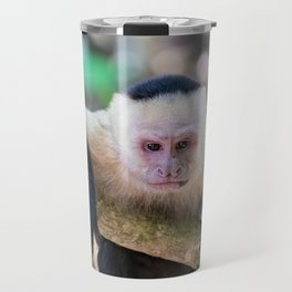 White headed capuchin monkey Travel Mug