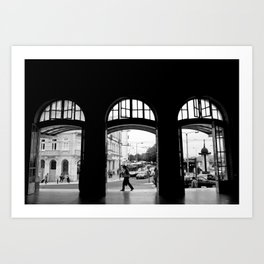 coimbra train station1 Art Print