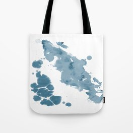 Paint 11 abstract indigo blue modern minimal art print affordable stretched canvas home decor art Tote Bag