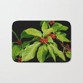 Pretty Little Red Berries Bath Mat