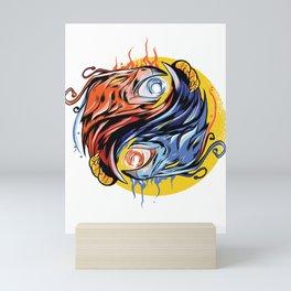 Ying Yang with Phoenix Mini Art Print