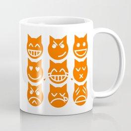 The 9 Lives of the Emoji Cat Coffee Mug