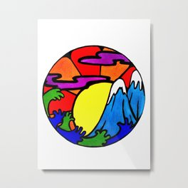 Sunshine and Mountain tops Metal Print