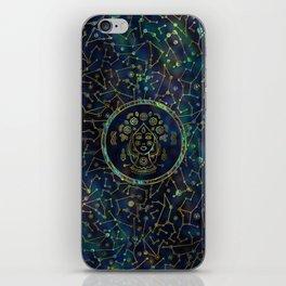 Virgo Zodiac Gold Abalone on Constellation iPhone Skin