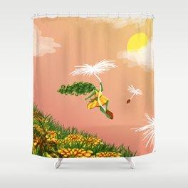 Dandelion Adventure Shower Curtain
