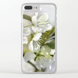 Spring white 044 Clear iPhone Case