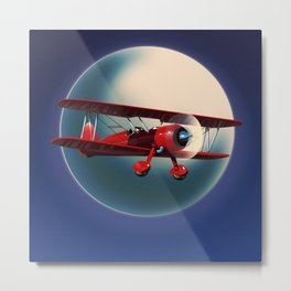 Biplane Metal Print