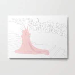 Pink Gown Oscar Red Carpet Hollywood Metal Print