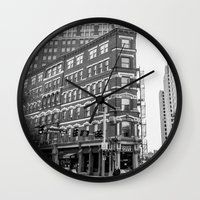 building Wall Clocks featuring BUILDING by Stephanie Bosworth