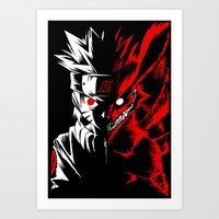 naruto Art Prints featuring Naruto by offbeatzombie
