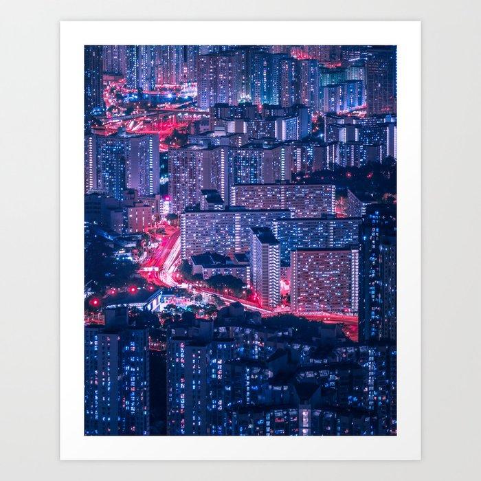 Hong Kong density Art Print