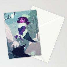 Snow Mermaid Stationery Cards