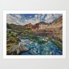 #2-Lake Marjorie, Sierra Nevada Mountains  Art Print