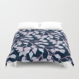 Winter Flower Buds Duvet Cover