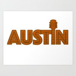 Retro Austin Texas Art Print