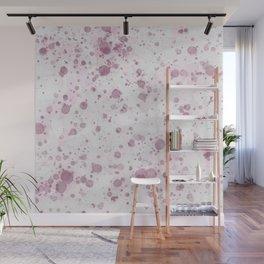 Pink Ink Drops Wall Mural