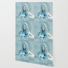 Lady Using Digital Solutions Technology Concept Art Wallpaper