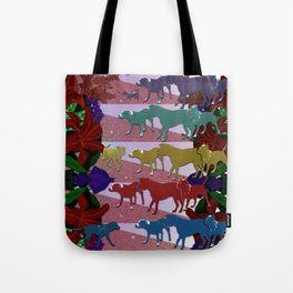 Dogs and Flowers Tote Bag