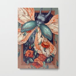 Moth Beetle Metal Print